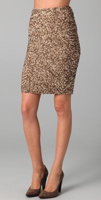 Vince Sequin Pencil Skirt in Metallic | Lyst