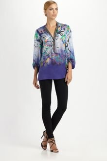 Etro Faded Paisley Silk Blouse - Lyst