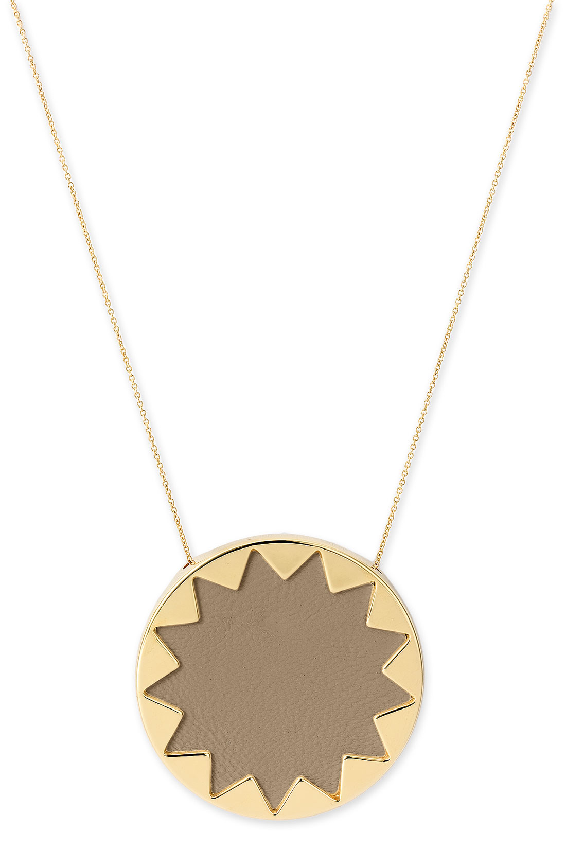 house of harlow 1960 sunburst pendant necklace in gold