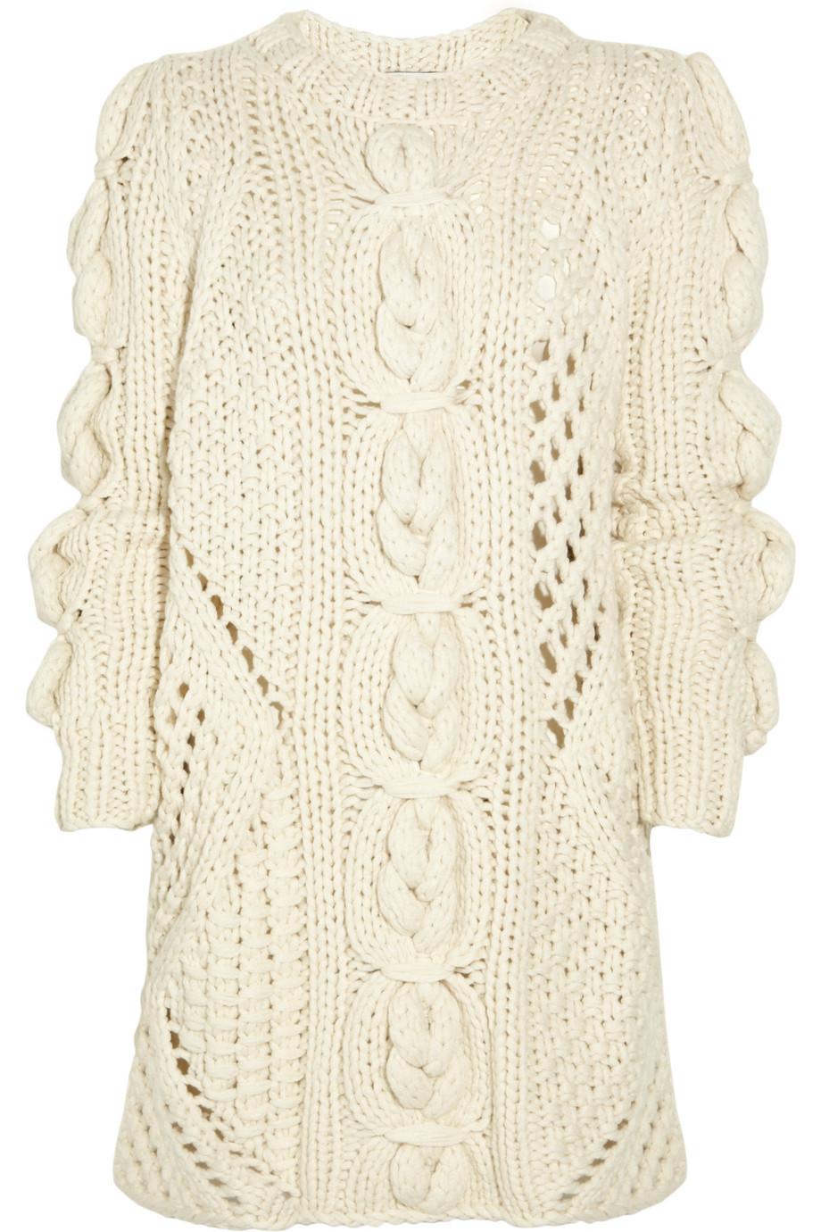 Pringle of scotland Aran-knit Cashmere Sweater Dress in ...