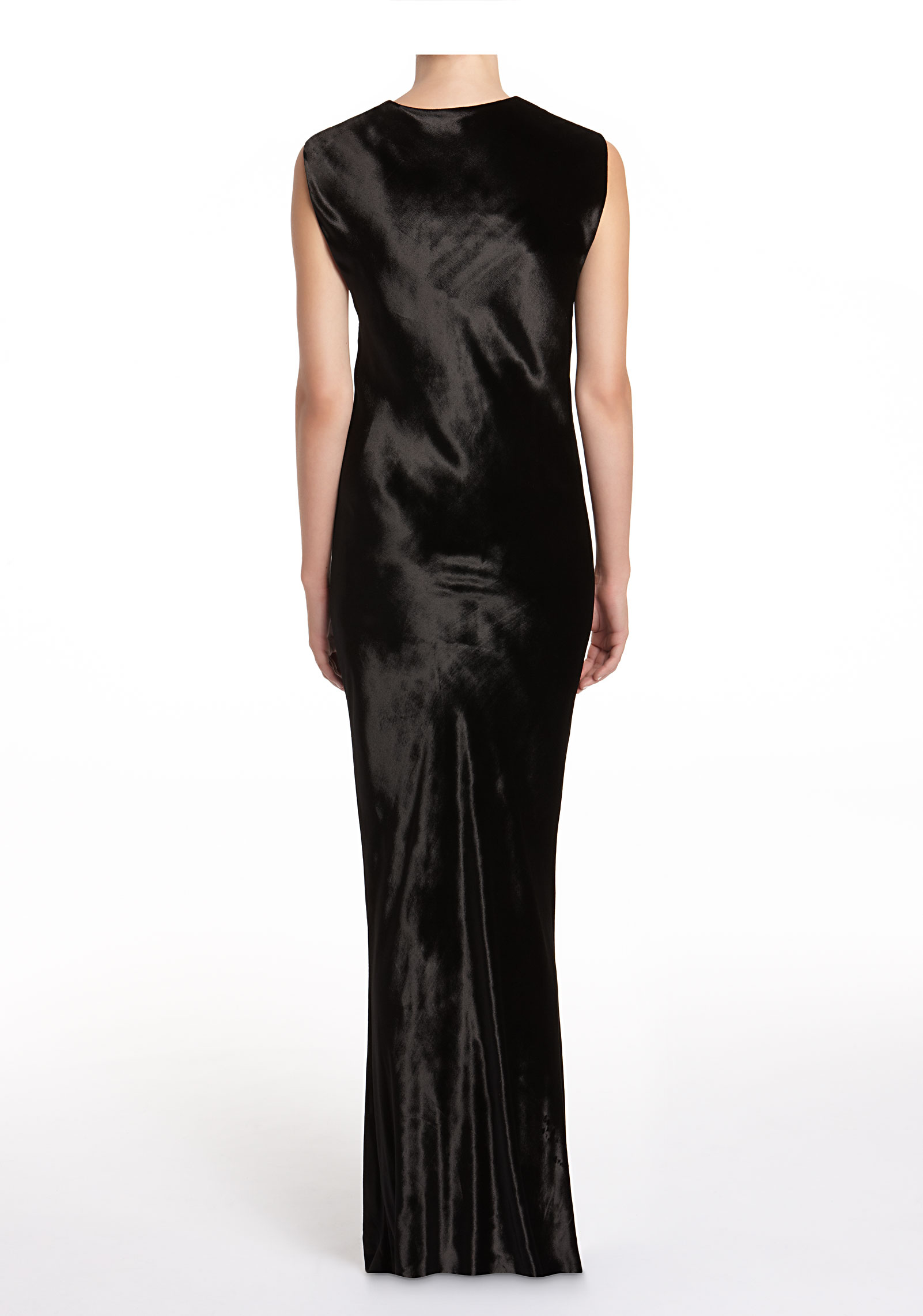 3c4d24b34d45 T By Alexander Wang Panne Velvet Long Dress in Black - Lyst