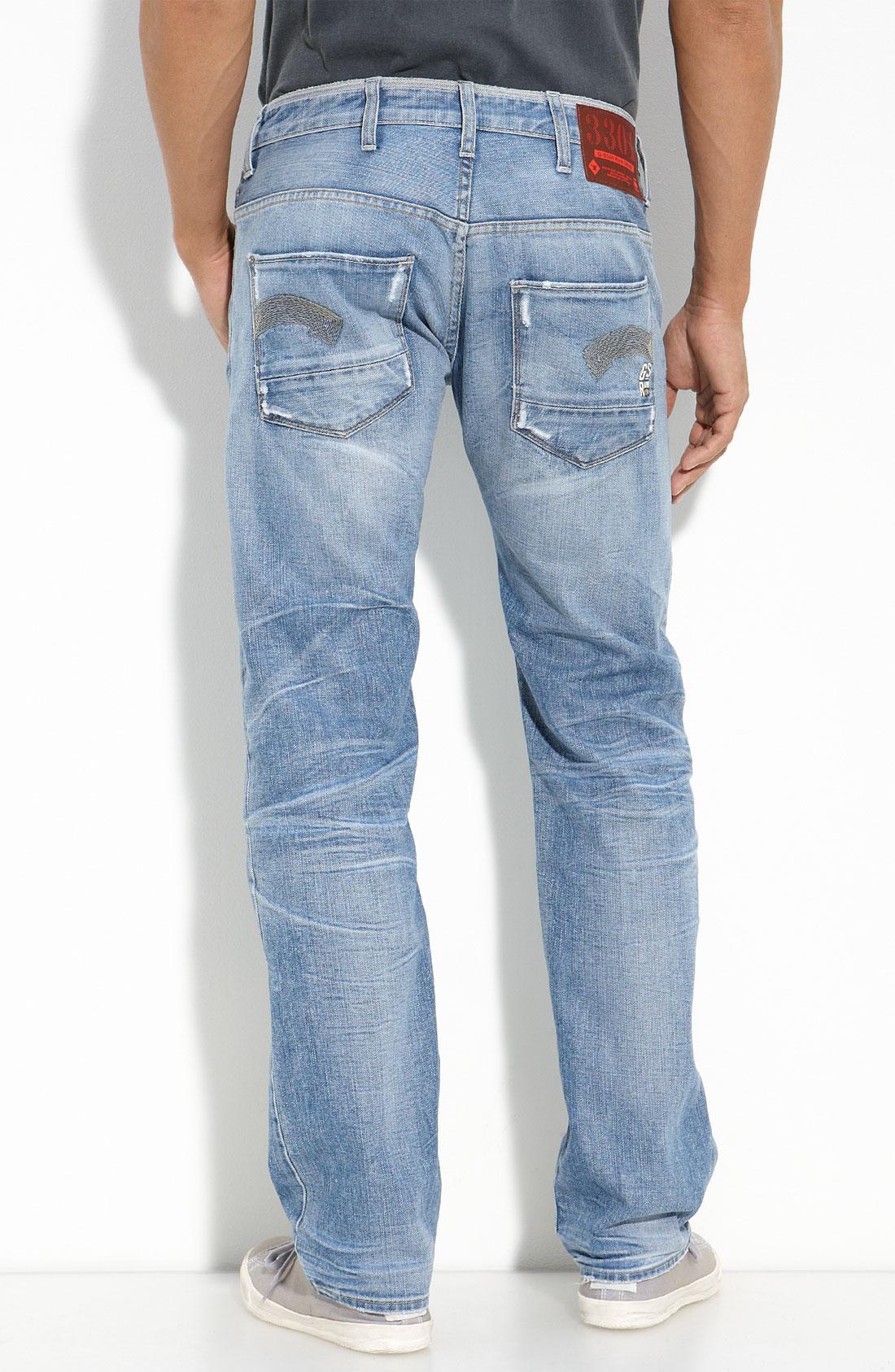 g star raw heller straight leg jeans sun bleached wash. Black Bedroom Furniture Sets. Home Design Ideas