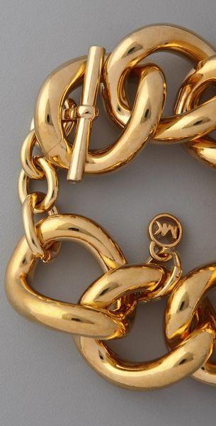 Michael Kors Chunky Chain Bracelet In Gold Lyst