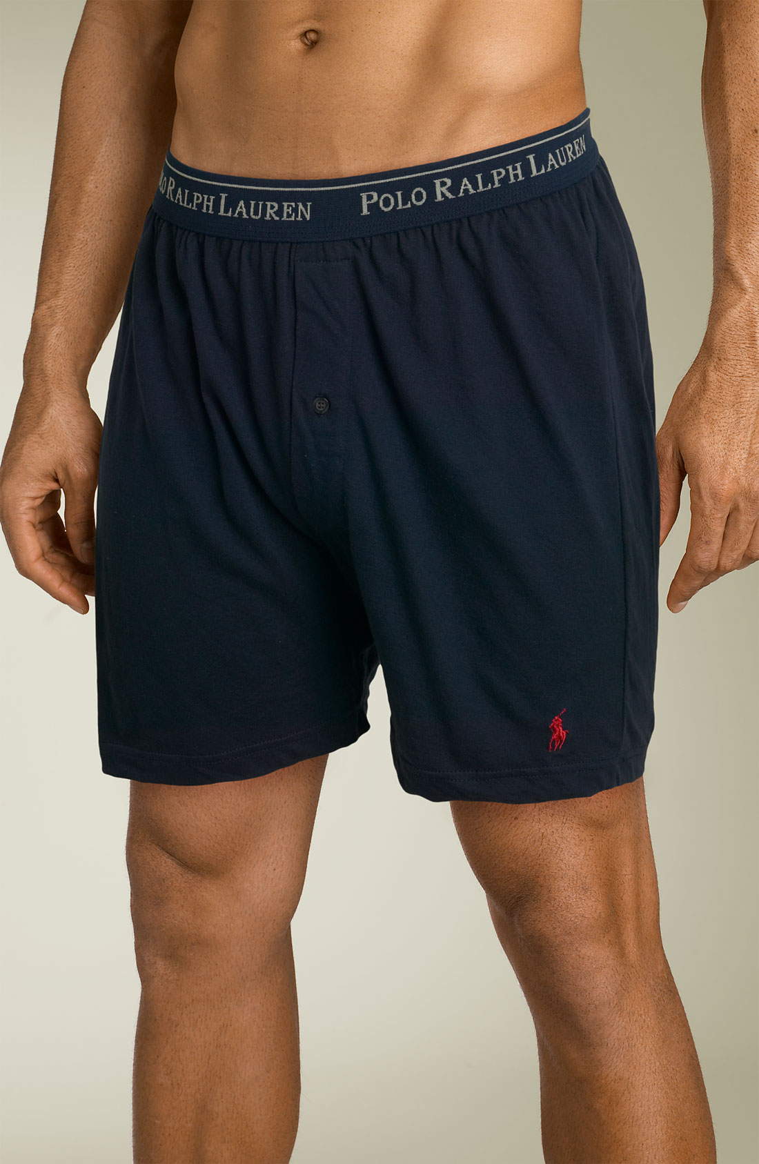 lyst polo ralph lauren knit boxer shorts in blue for men. Black Bedroom Furniture Sets. Home Design Ideas