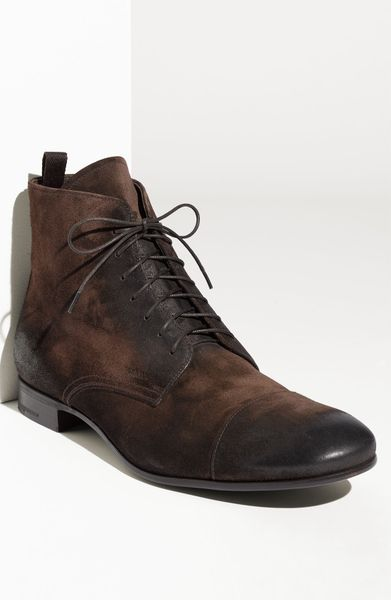 prada vintage cap toe boot in brown for moro