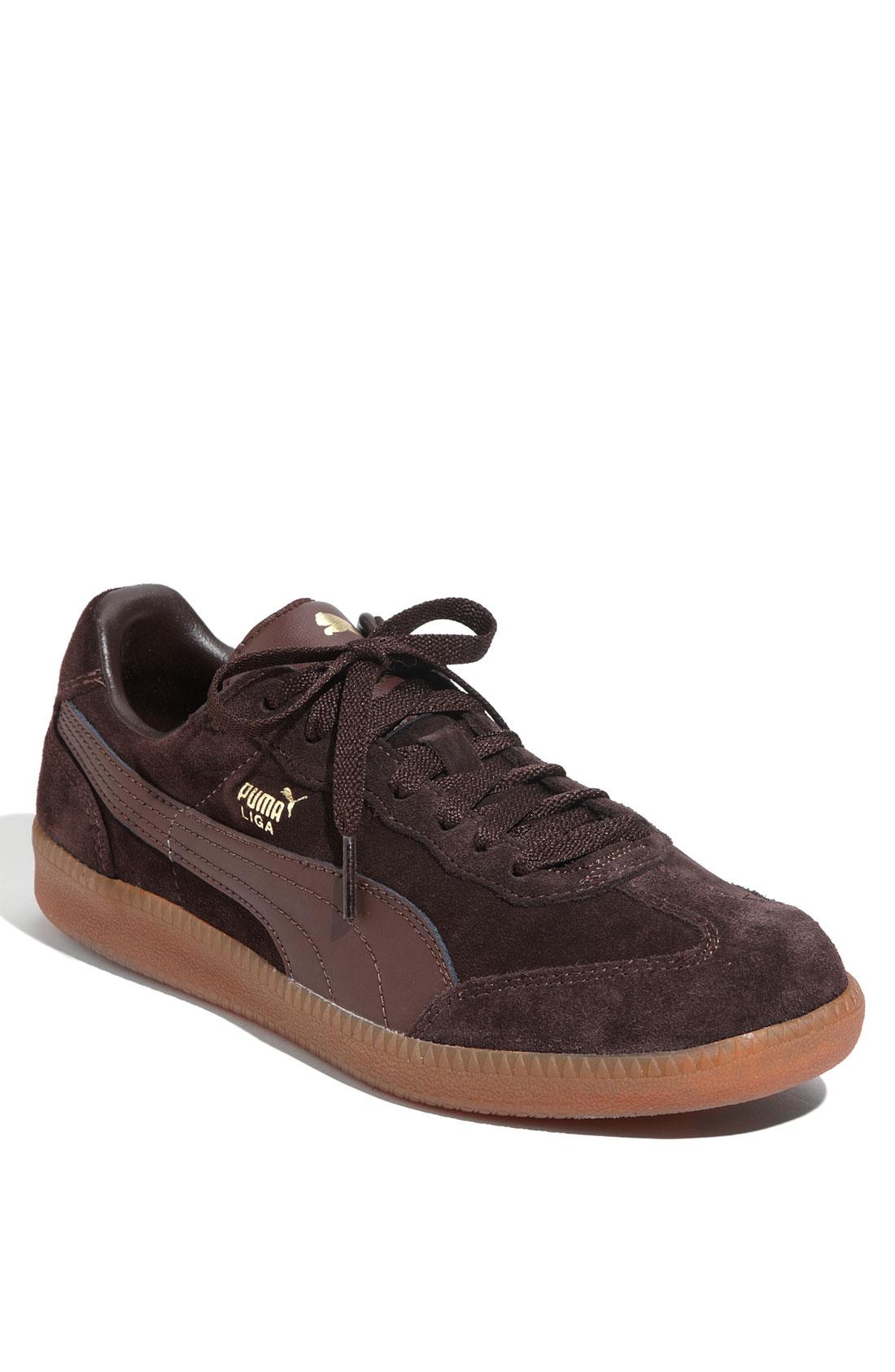 puma liga suede ii sneaker in brown for men lyst. Black Bedroom Furniture Sets. Home Design Ideas