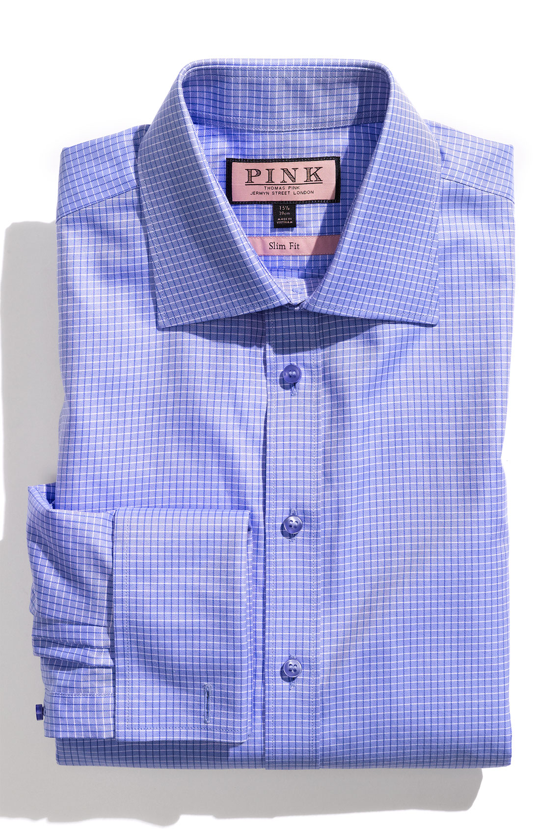 Thomas Pink Hicks Check Super Slim Fit Shirt In Blue For