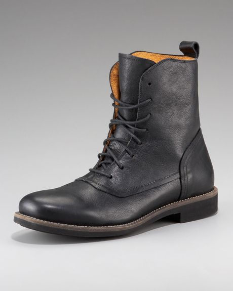 true religion colin lace up boot in black for lyst