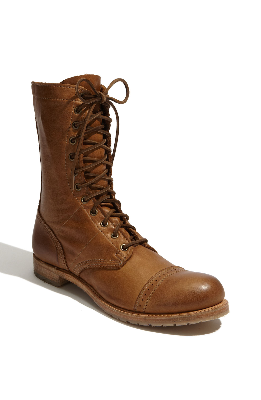 vintage shoe company nathaniel boot in brown for