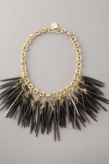 Ashley Pittman Dark Horn Quill and Bronze Necklace - Lyst