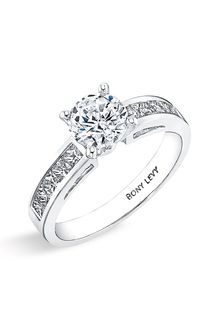 Bony Levy Bridal Channel Set Diamond Semi Mount Ring (nordstrom Exclusive) - Lyst
