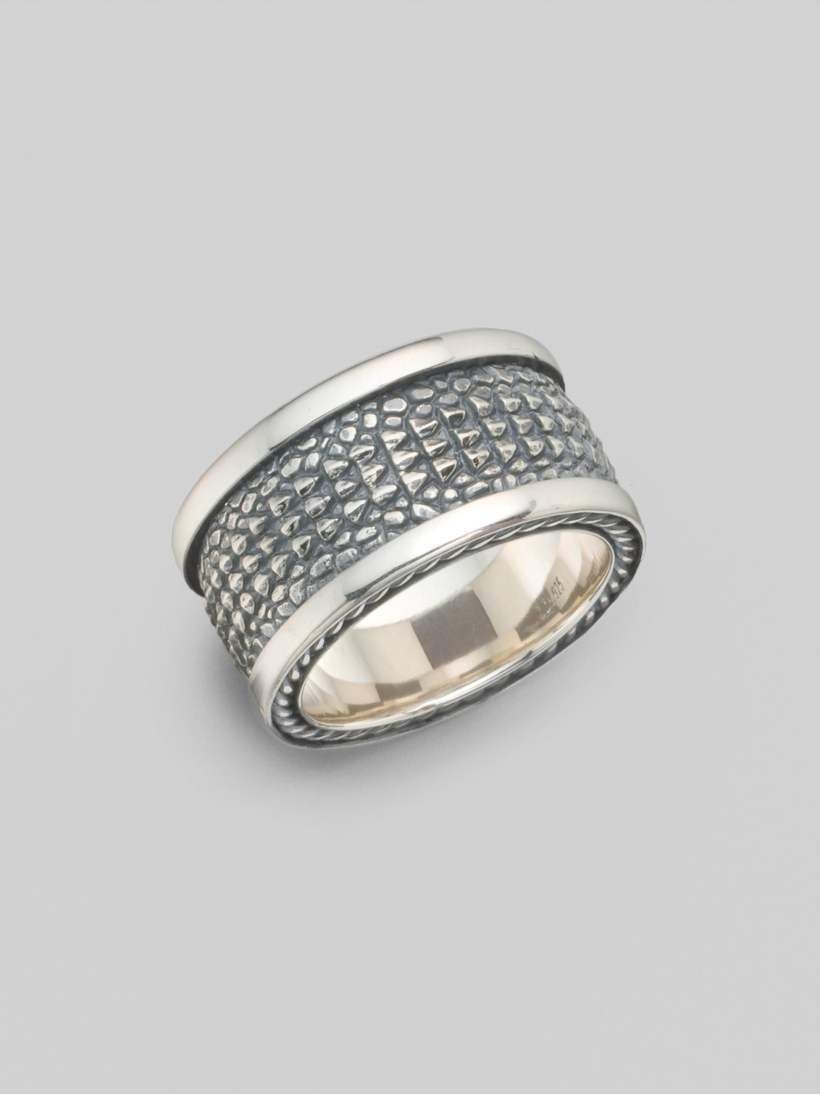 david yurman alligator band ring in silver for lyst