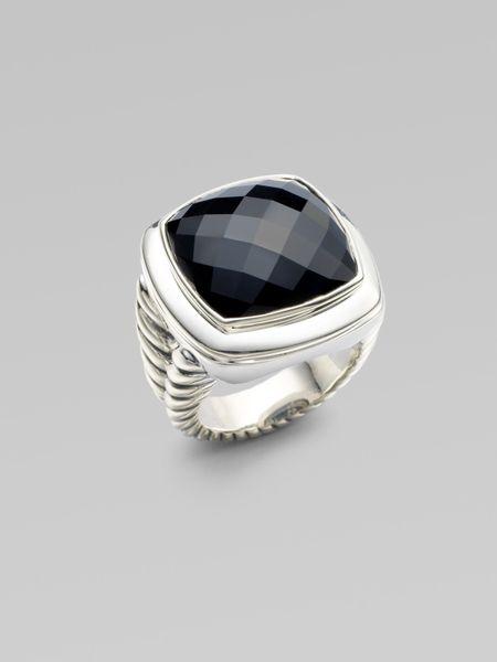 david yurman black onyx sterling silver ring in silver
