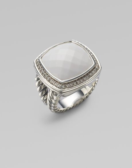 david yurman white agate sterling silver ring