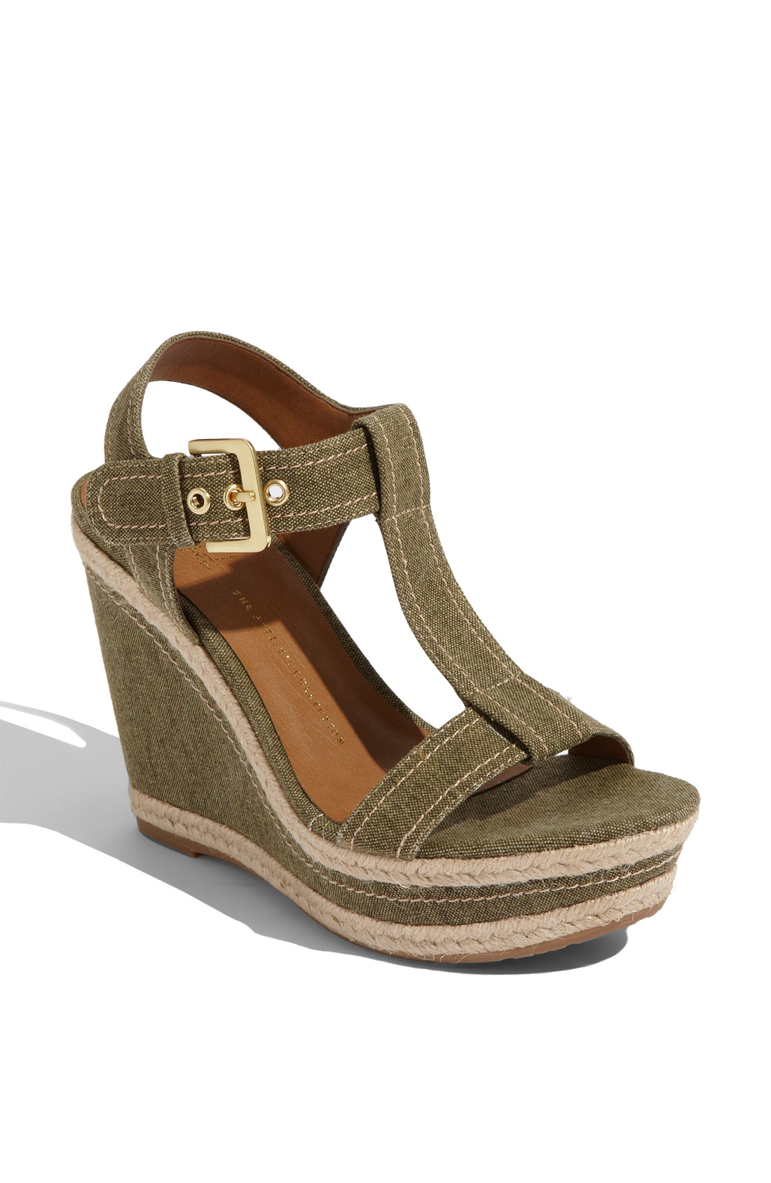 Franco Sarto Womens Ambrosia Wedge Sandal in Brown (olive ...
