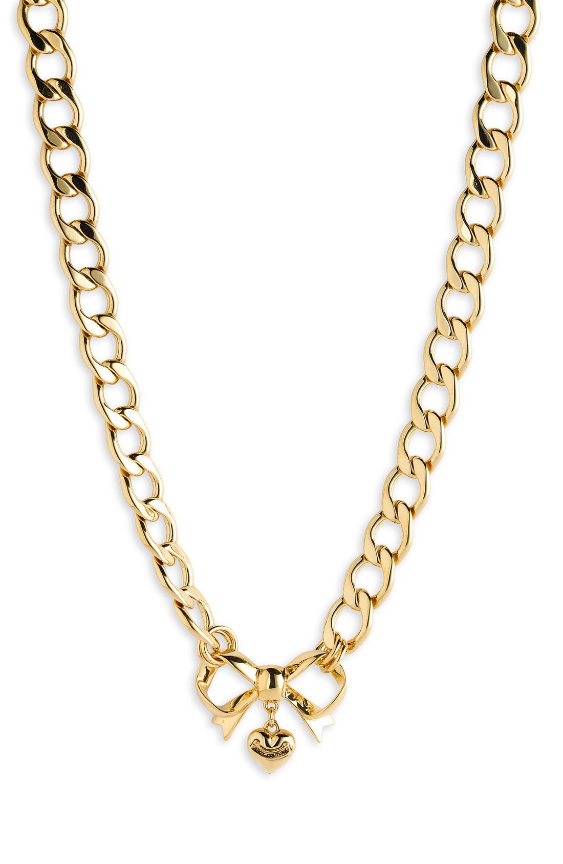 Juicy Couture Bow Starter Charm Necklace in Gold | Lyst
