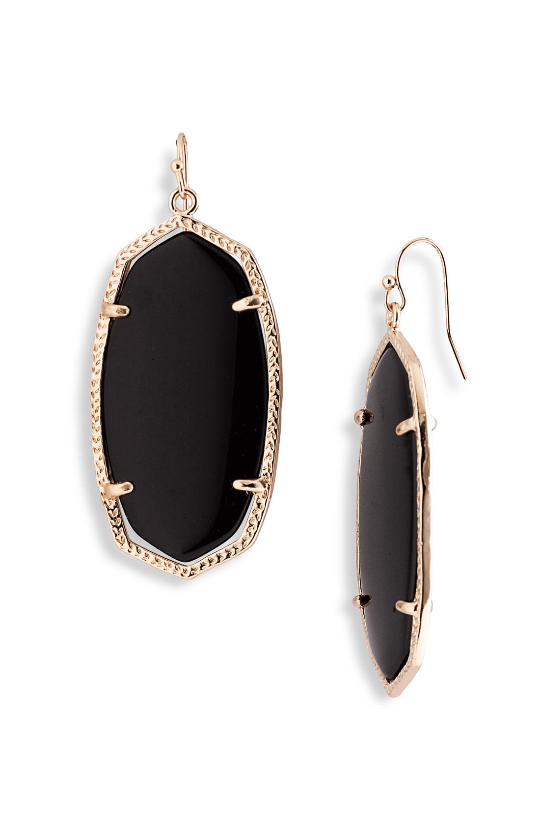 Kendra Scott Danielle Earrings Black Onyx In Black Lyst