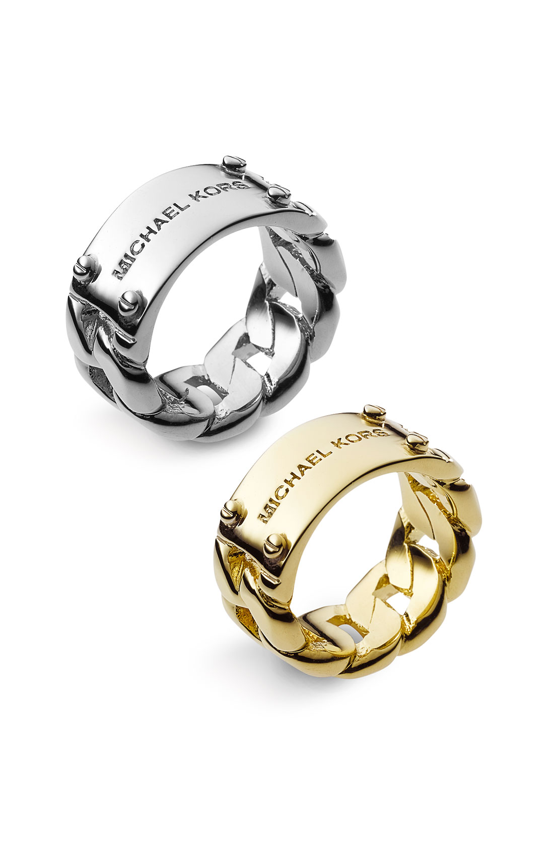 Michael Kors Gold Logo Plaque Ring