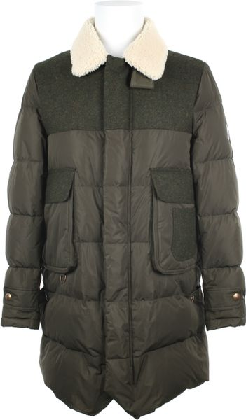 Moncler Gamme Bleu Cupro Coat in Khaki for Men