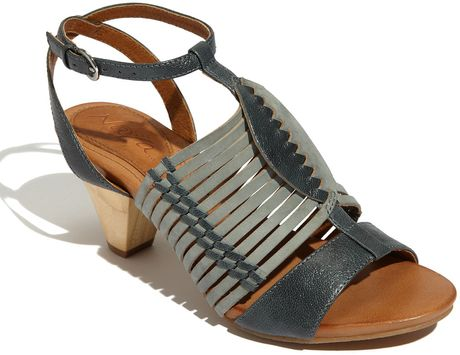 Naya Tova Sandal in Silver (deep sea green)