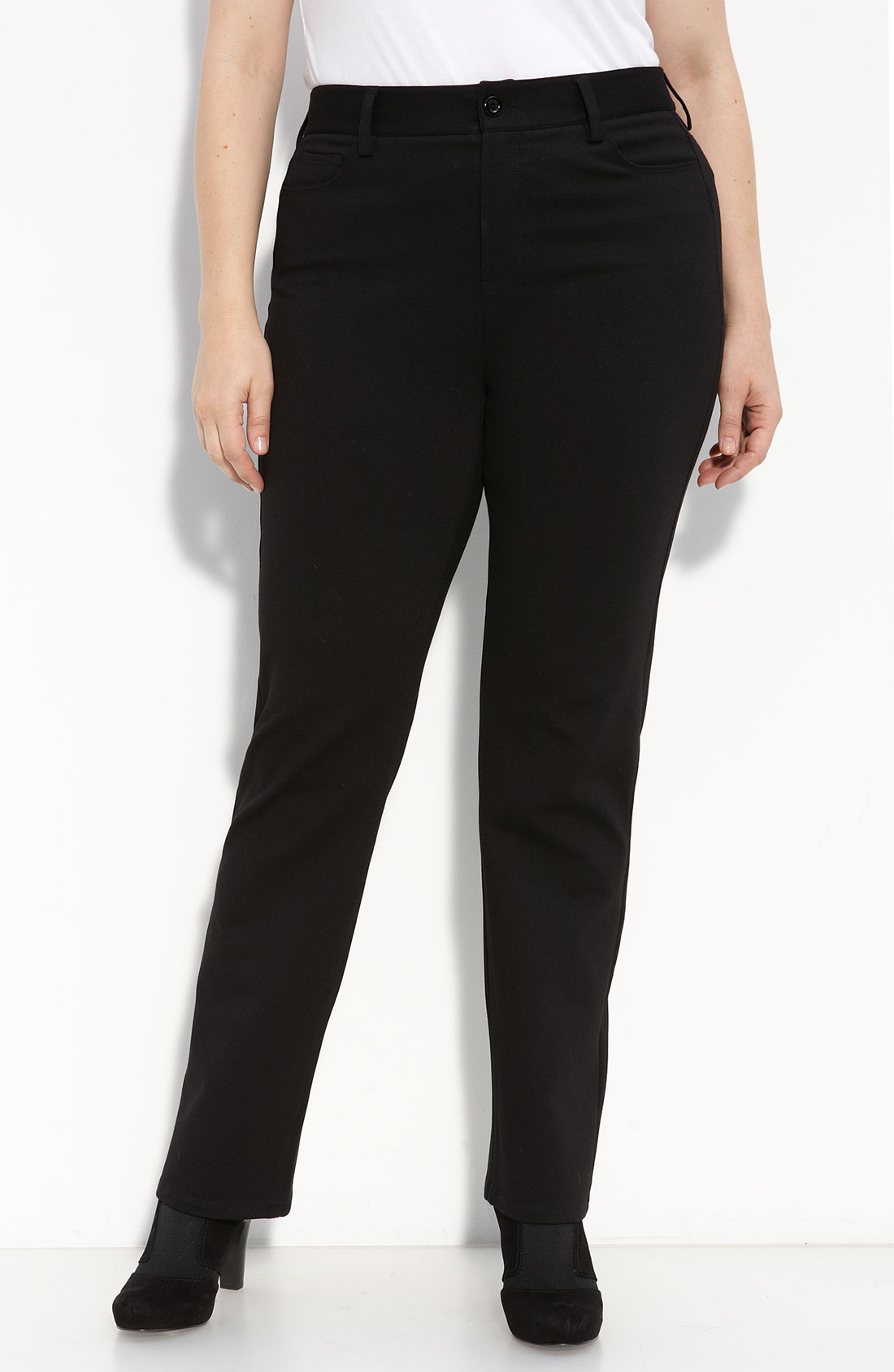 not your daughter 39 s jeans stretch ponte knit pants plus. Black Bedroom Furniture Sets. Home Design Ideas