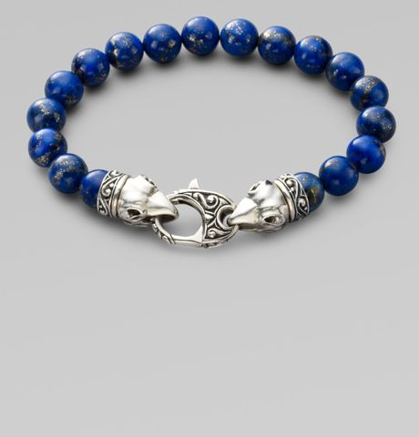 Stephen Webster Beaded Bracelet In Blue For Men Lyst