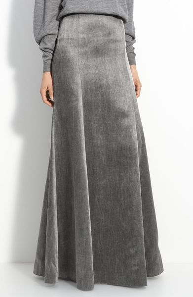 Theyskens' Theory Smuta Fluted Skirt in Gray (sparkle grey)