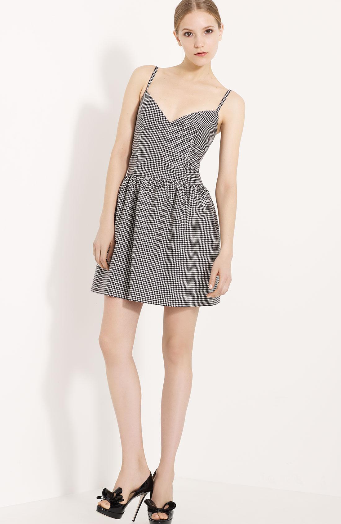 Valentino Gray Houndstooth Dress ( Size 6) | eBay