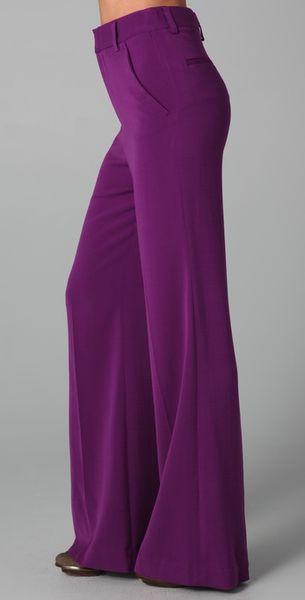 Alice Olivia High Waist Wide Leg Pants In Purple Lyst