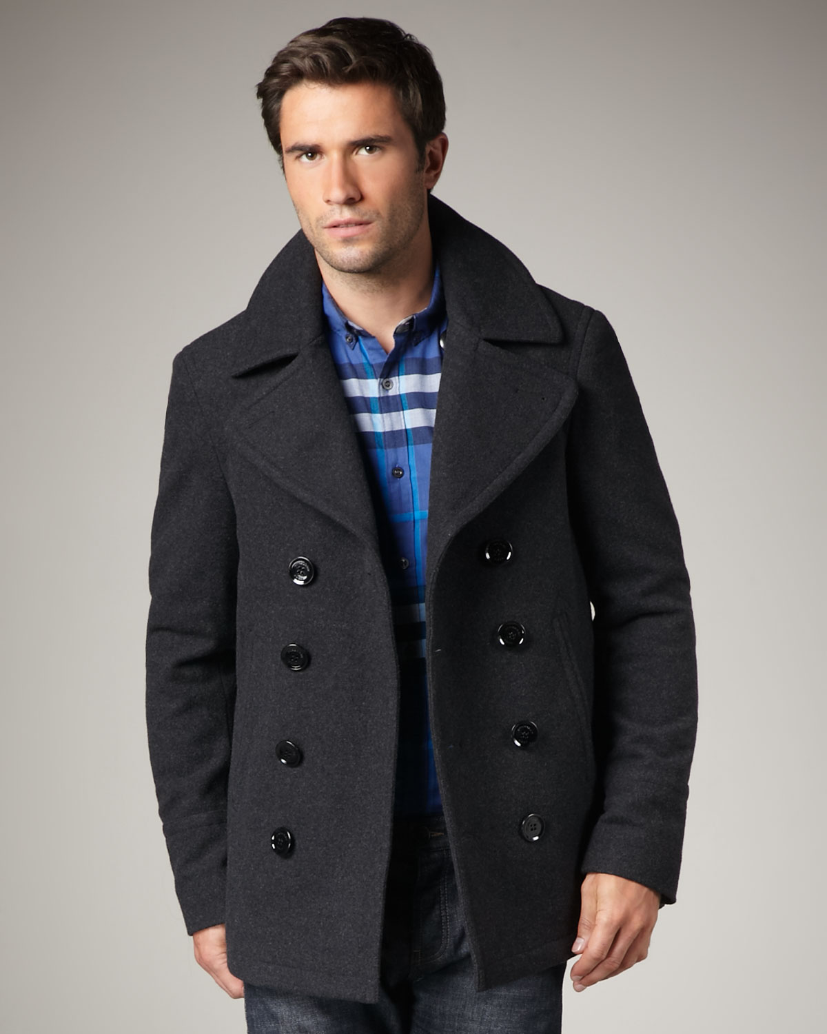 Shop men's coats from Burberry. The range includes both single-breasted and double-breasted designs alongside trench coats, parkas, and more. Wool Blend Pea Coat. 2 colours. $1, Click the star icon to add this item to your Favourites. Click the star icon to .