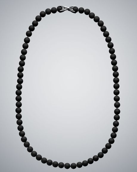 David Yurman Black Onyx Spiritual Bead Necklace in Black for Men