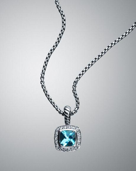 david yurman 7mm blue topaz albion necklace in