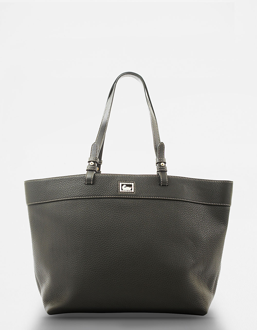 dooney bourke dillen black large leather tote bag in