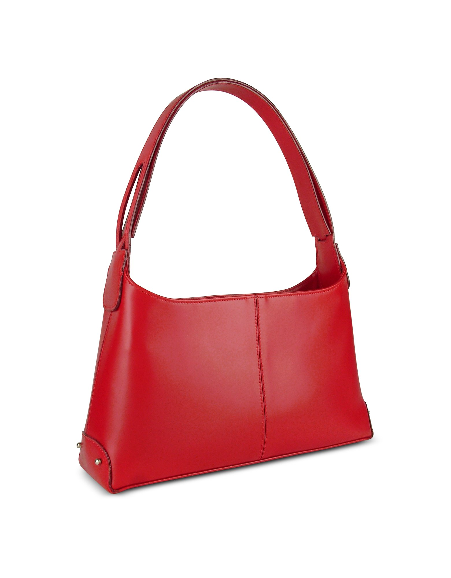 e6607c7a80943 Lyst - Fontanelli Classy Red Italian Leather Handbag in Red