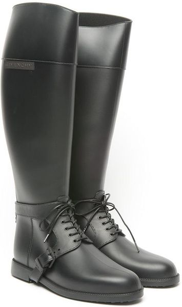 Givenchy Rubber Equestrian Boots In Brown Black Lyst