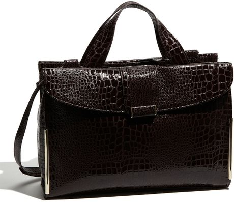 Ivanka Trump Sophie Faux Leather Briefcase in Brown
