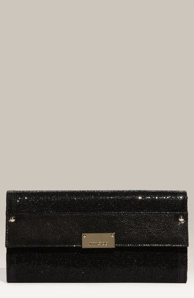 Jimmy Choo Reese Clutch in Black - Lyst