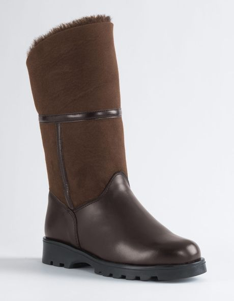 La Canadienne Kosmo Mid-calf Boots in Brown (brown suede)