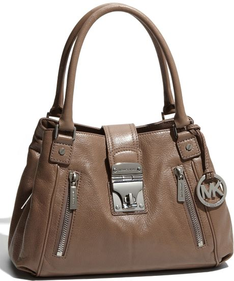 Michael By Michael Kors Jenna - Medium Leather Tote in Brown (dusk)
