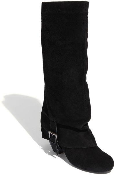 monkey jump start boot in black black suede lyst