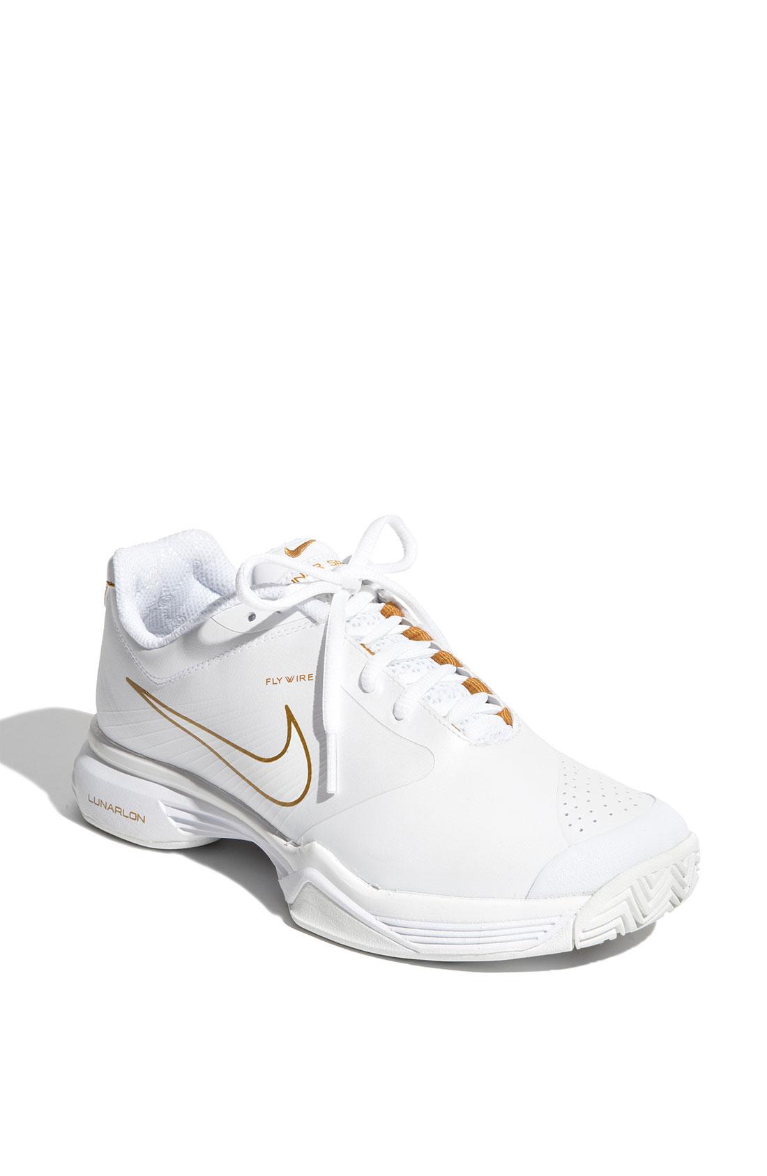 Nike Lunar Speed 3 Tennis Shoe (women) in White (white/ white/ bronze