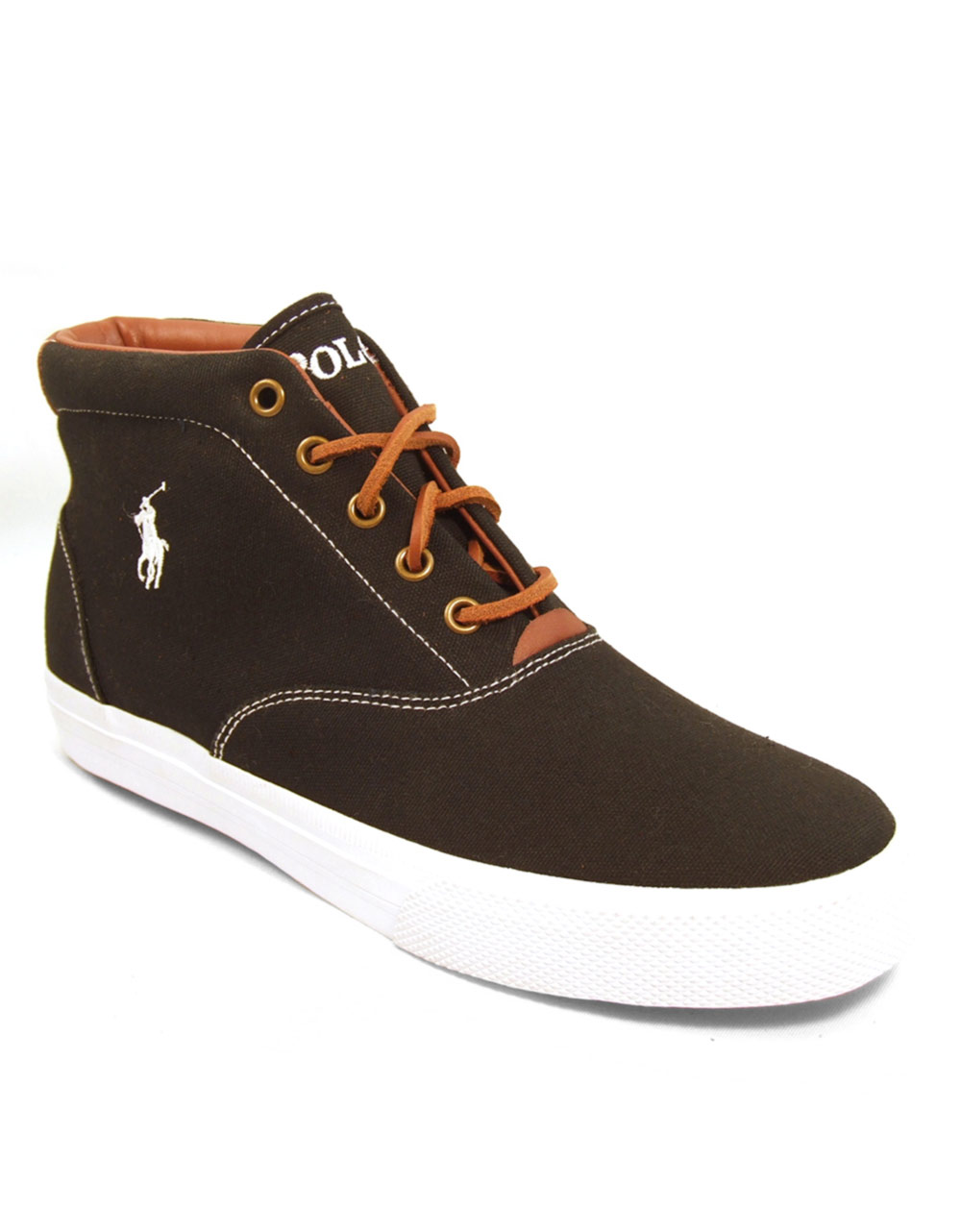 Polo High Top Leather Shoes