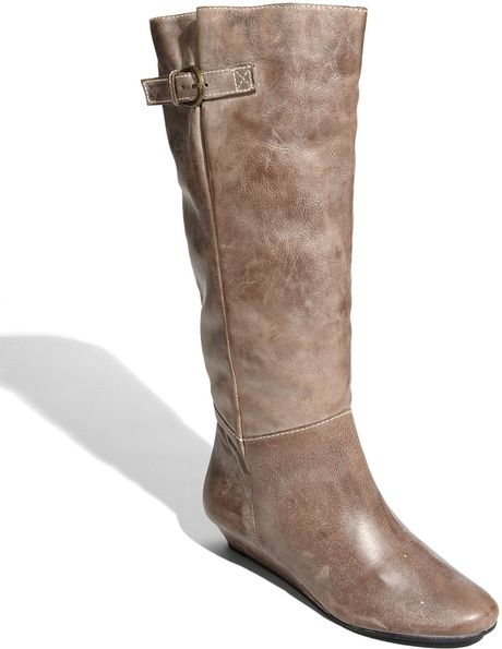 steven by steve madden intyce boot in brown lyst