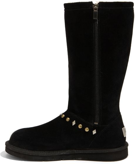 ugg avondale knee high boots black in black lyst