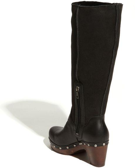 ugg jemma boot wide calf in black lyst