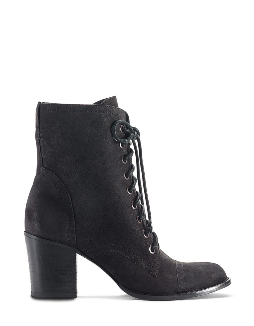 vince camuto vestas high heel leather boots in black