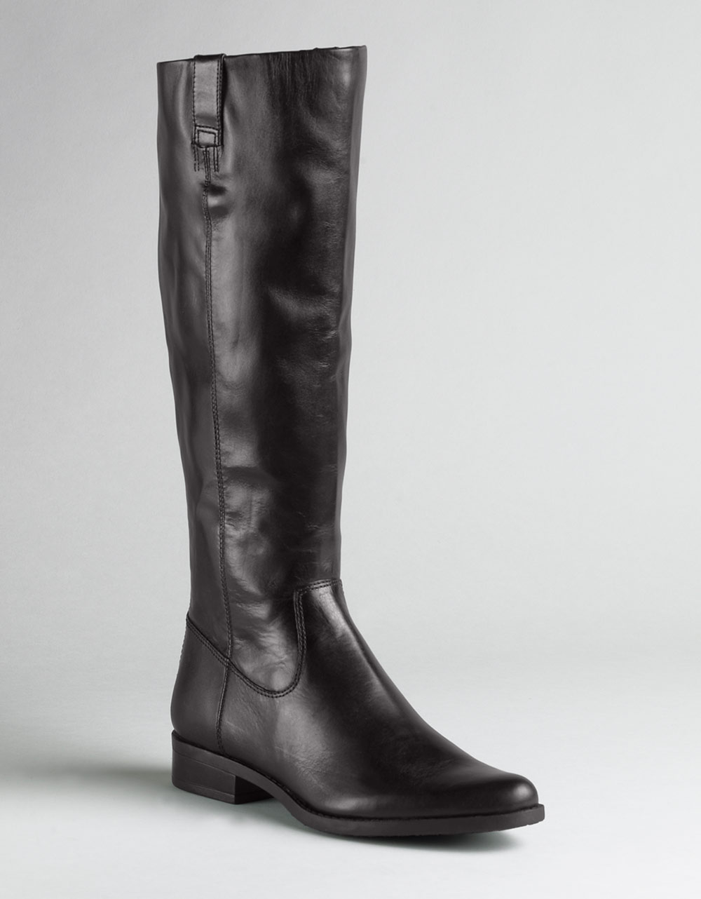 Calvin Klein Tamryn Leather Boots In Brown Brown Leather
