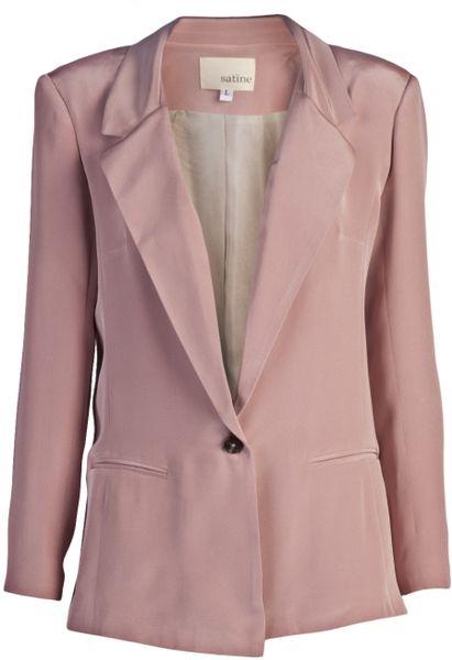 Satine Label Katherine Blazer in Pink