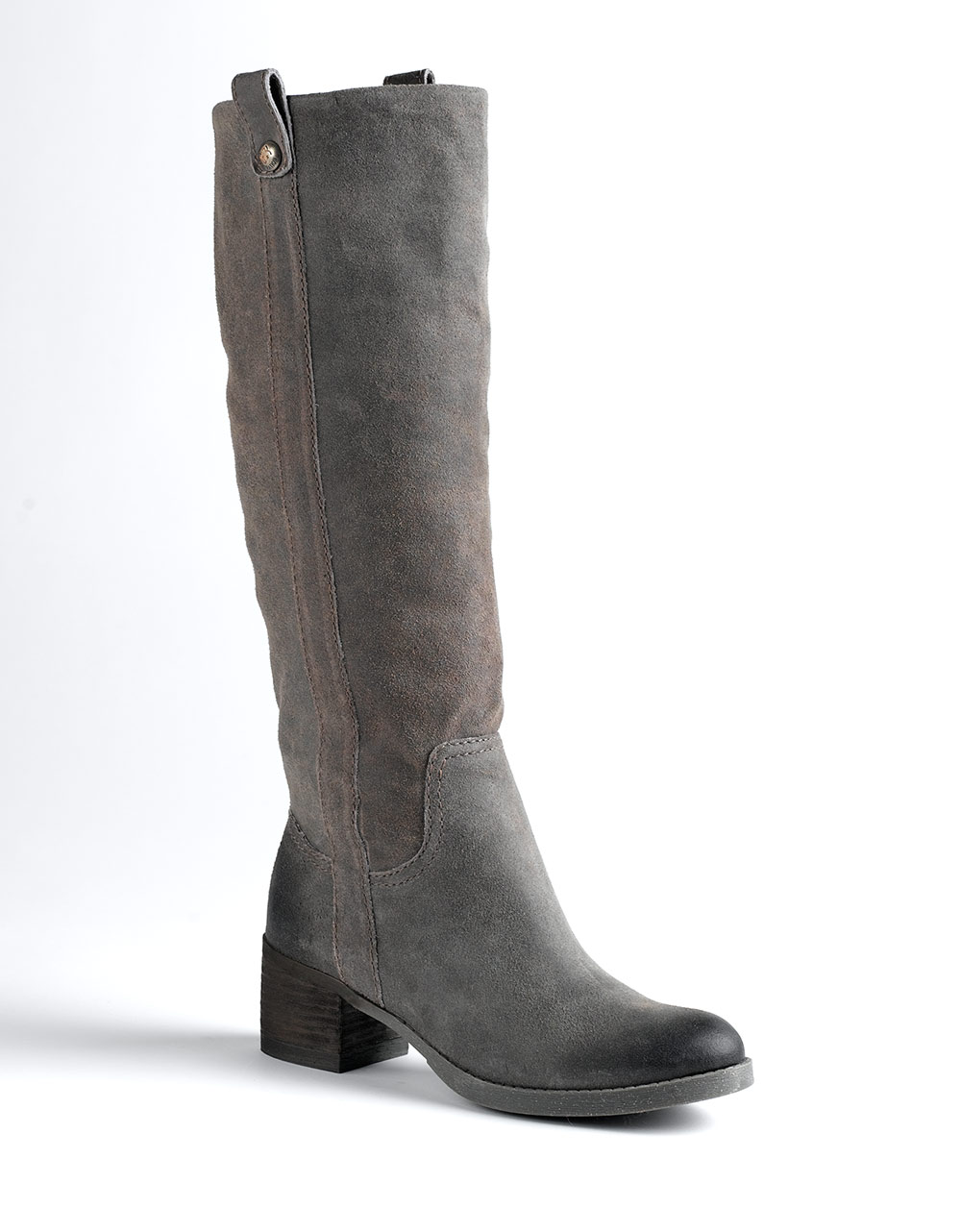 Bcbgeneration Hans Split Suede Knee High Boots In Gray Lyst