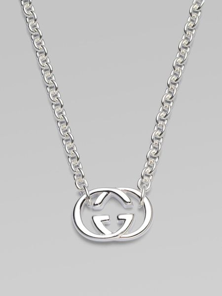 Gucci Sterling Silver Double G Necklace In Silver Lyst